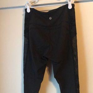 lululemon athletica Pants - Wunder Under Crop *Flocked*